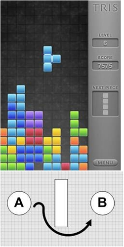 Tetris screen shot during play